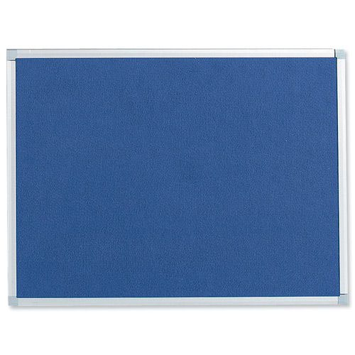 Value Noticeboard Aluminium Frame 900x600mm Blue