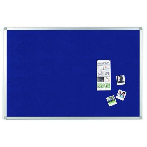 Value Noticeboard Aluminium Frame 1200x900mm Blue