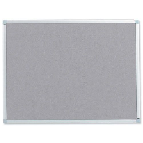 Value Noticeboard Aluminium Frame 900x600mm Grey