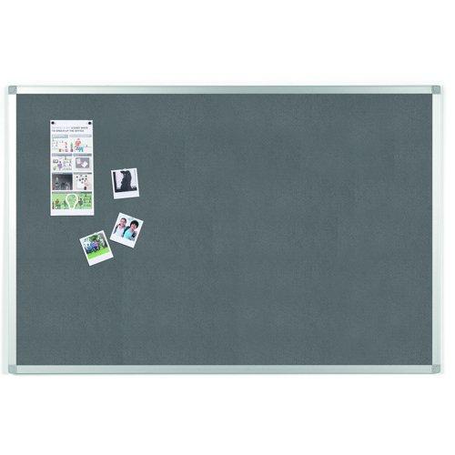 Value Noticeboard Aluminium Frame 1200x900mm Grey