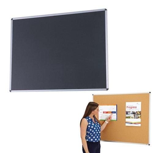 Adboards Cork & Chalk Noticeboard Aluminium Frame 1200x900mm NACK-1209-68