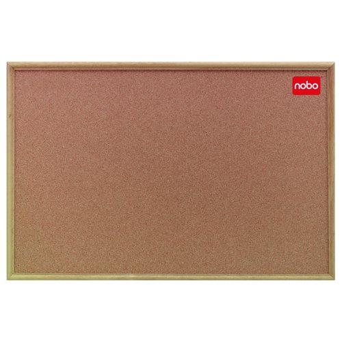 Nobo Classic Office Series Cork Board Oak Frame 900x600mm 37639003