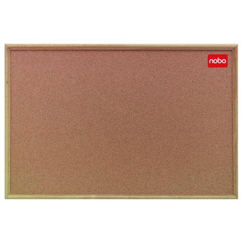 Nobo Classic Office Series Cork Board Oak Frame 1200x900mm 37639004