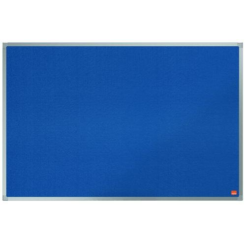 Nobo Classic Felt Noticeboard Aluminium Frame 900x600mm Blue 1900915