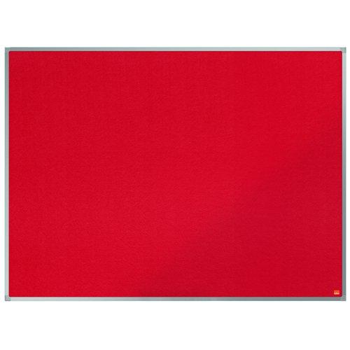 Nobo Classic Felt Noticeboard Aluminium Frame 900x1200mm Red 1902260