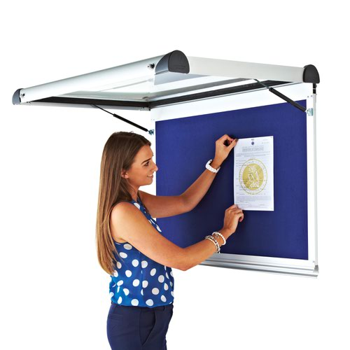 Adboards Metropolitan Internal Showcase 9xA4 Portrait 1050x755mm Blue TMIM-9A4P-01