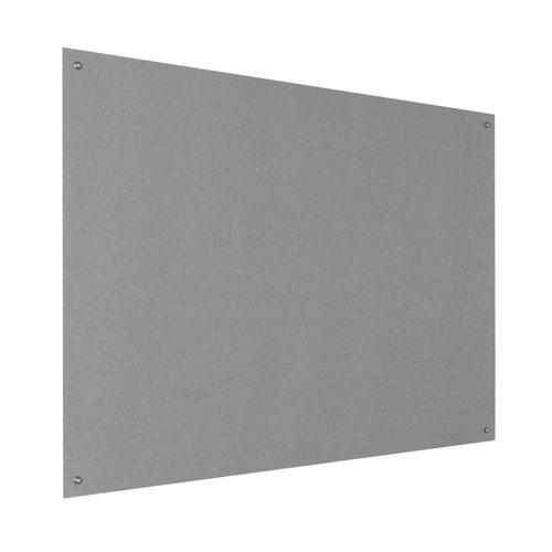 Metroplan Eco-Colour Resist-a-Flame Frameless Noticeboard 1200x900mm Grey UFB43/GY