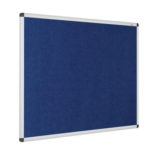 Metroplan Eco-Colour Resist-a-Flame Aluminium Framed Noticeboard 1200x900mm Blue 22643/BL