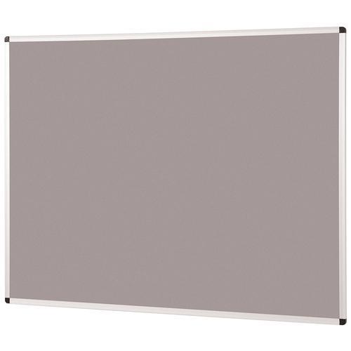 Metroplan Aluminium Framed Noticeboard 2400x1200mm Grey 44584/LG