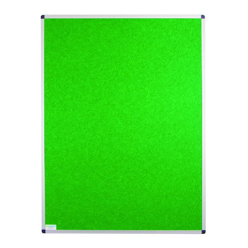 Adboards Eco-Sound Aluminium Frame Blazemaster Board 900x600mm Lime NCES-0906-LM