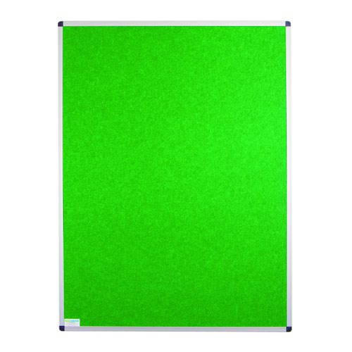Adboards Eco-Sound Aluminium Frame Blazemaster Board 900x600mm Green NCES-0906-GN