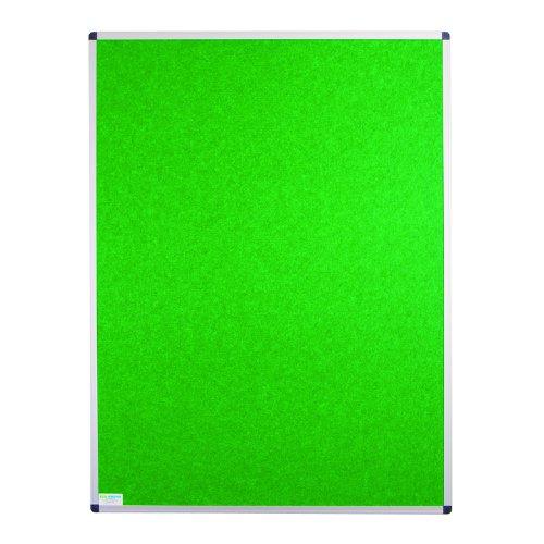 Adboards Eco-Sound Aluminium Frame Blazemaster Board 1200x900mm Green NCES-1209-GN