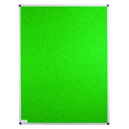 Adboards Eco-Sound Aluminium Frame Blazemaster Board 1500x1200mm Green NCES-1512-GN