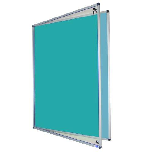 Adboards Eco-Sound Tamperproof Blazemaster Board 1200x900mm Blue TCES-1209-BL