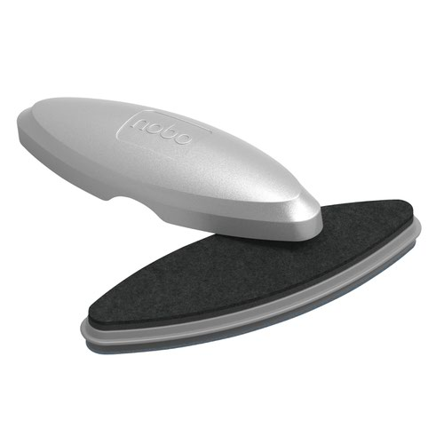 Nobo Glass Whiteboard Eraser Silver