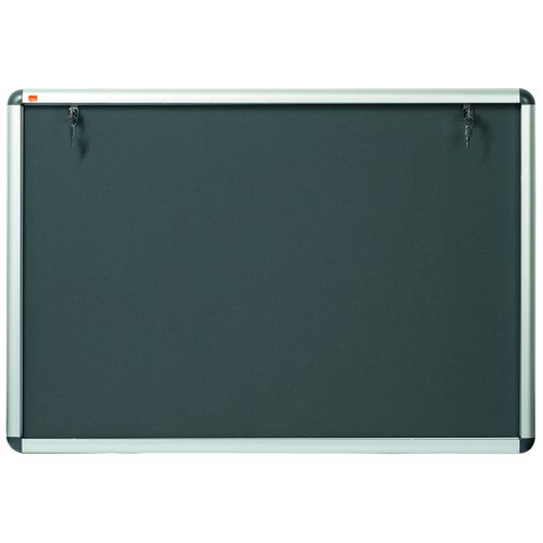 Nobo Lockable Visual Board Grey 1265x965
