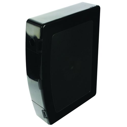 Value Plastic Box File Foolscap Black