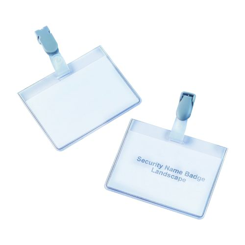 Value Security Name Badge 90x60mm (25)