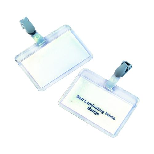 Value Self Laminating Badge 90x54mm (25)