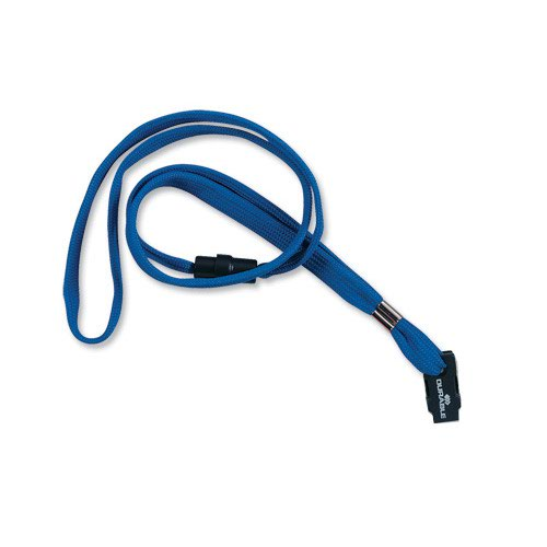Durable Textile Name Badge Necklace 10mm Blue (10) 811907