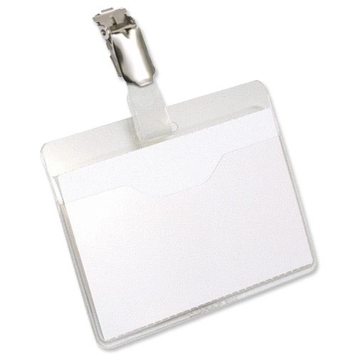 Durable Visitor Name Badge Landscape 90x60mm (25) 8106/19