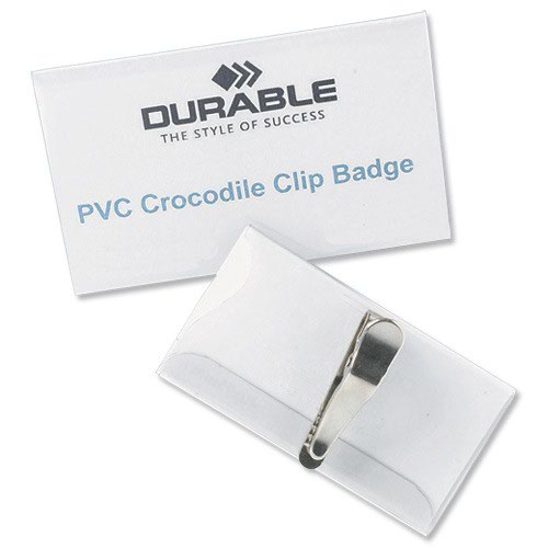 Durable Crocodile Clip Badge 75x40mm (25) 811019