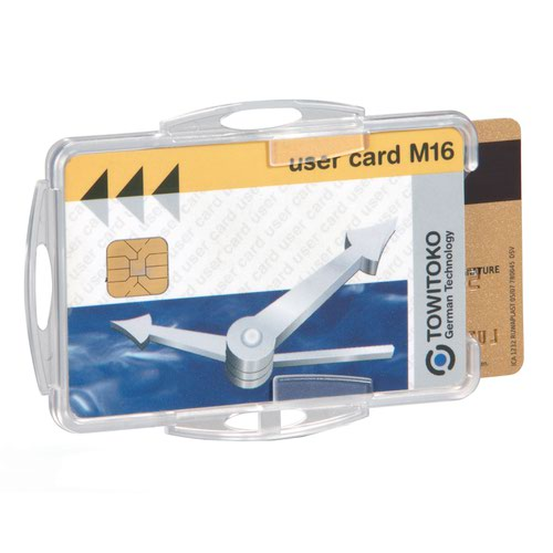 Durable Swipe Card Holder Double Clear (50) 999108000