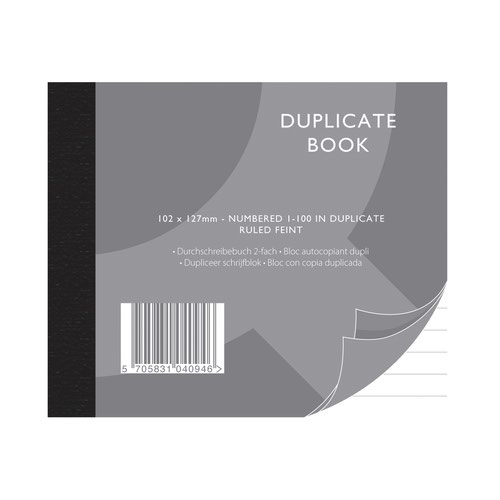 Value Duplicate Book 102x127mm