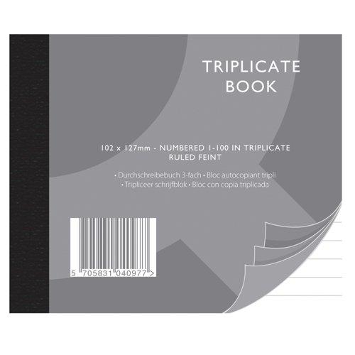 Value Triplicate Book 102x127mm