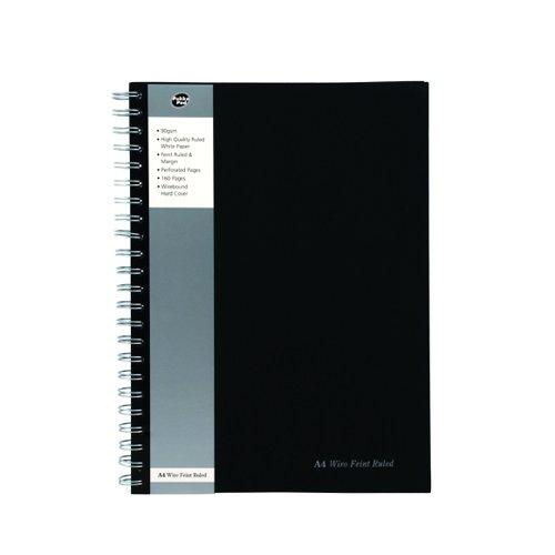 Pukk Ruled Notebook A4 Black Pk5