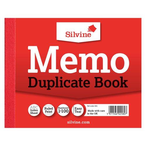 Silvine Duplicate Book 102x127mm Memo 603