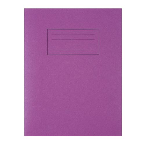 Silvine Exercise Book 80pages Ruled & Margin A4 Purple EX111