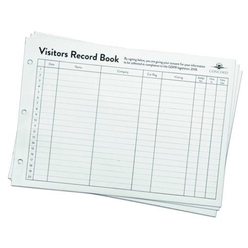 Concord Visitors Book Refill (50) 85801/CD14P