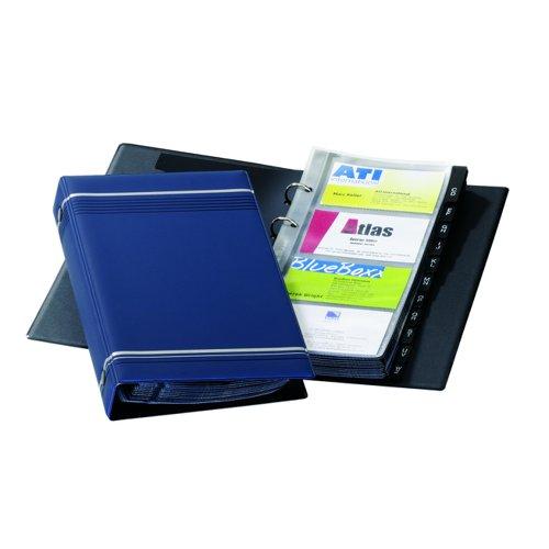 Durable Visifix Business Card Album 200 Cards Blue 2385/07