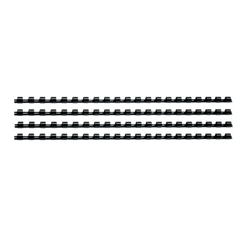 Value Plastic Binding Comb A4 6mm Black (100)