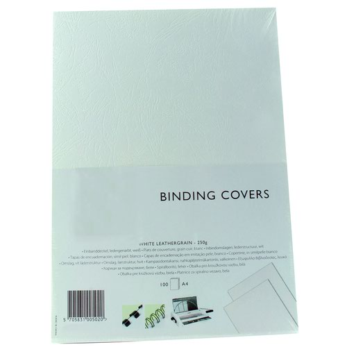 Value Leathergrain Binding Cover A4 Ivory 240gsm (100)