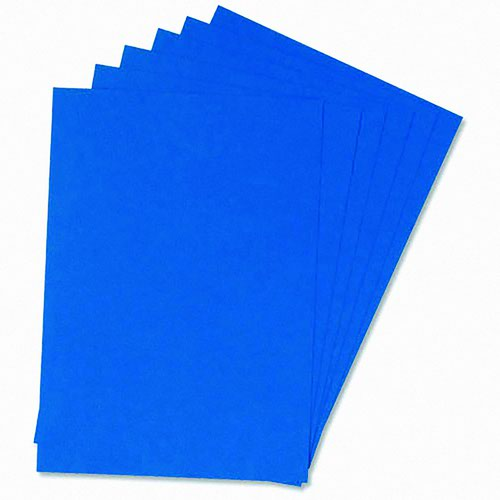 Value Leathergrain Binding Cover A4 Blue 240gsm (100)