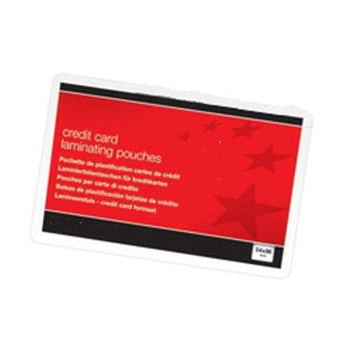 Value Laminating Pouch Credit Card 54x86 250micron (100)