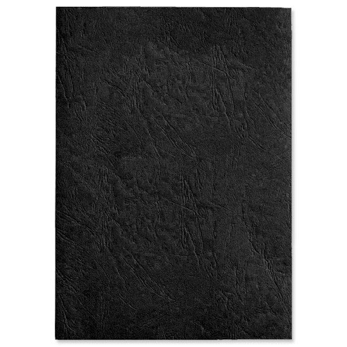 GBC Antelope Leather Look Binding Covers Plain A4 Black 250gsm (50) CE040010