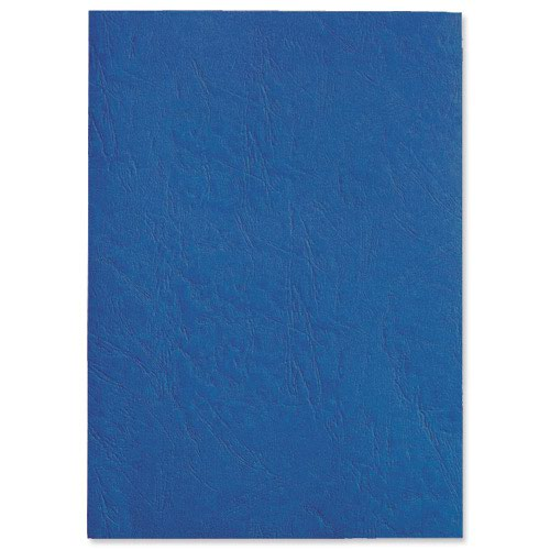 GBC Antelope Leather Look Binding Covers Plain A4 Royal Blue 250gsm (50) CE040029
