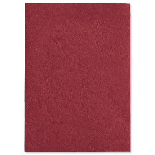 GBC Antelope Leather Look Binding Covers Plain A4 Red 250gsm (50) CE040030