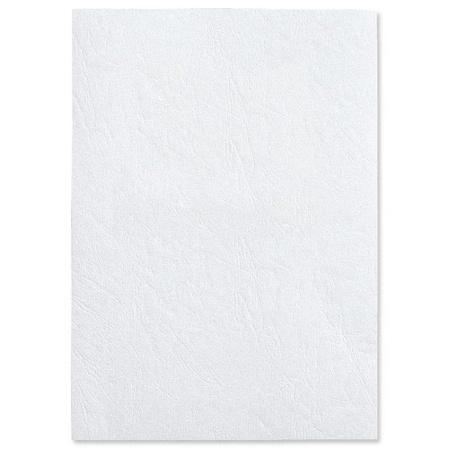 GBC Antelope Leather Look Binding Covers Plain A4 White 250gsm (50) CE040070