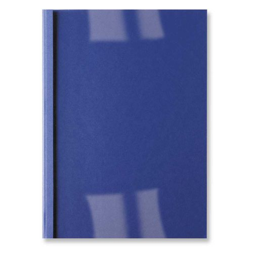 GBC Thermal Binding Cover Leathergrain 6mm Royal Blue (100) IB451034