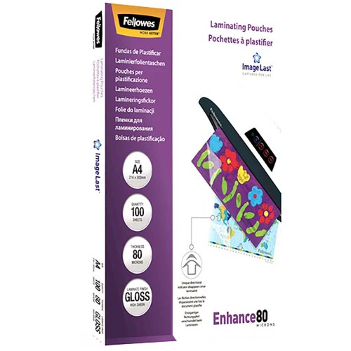 Fellowes Laminating Pouch A4 80micron (100) 5306101