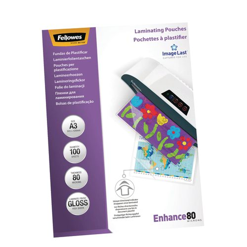Fellowes Laminating Pouch A3 80micron (100) 5306201
