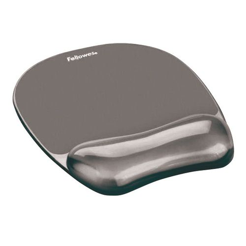 Fellowes Crystal Gel Mouse Pad Black 9112101