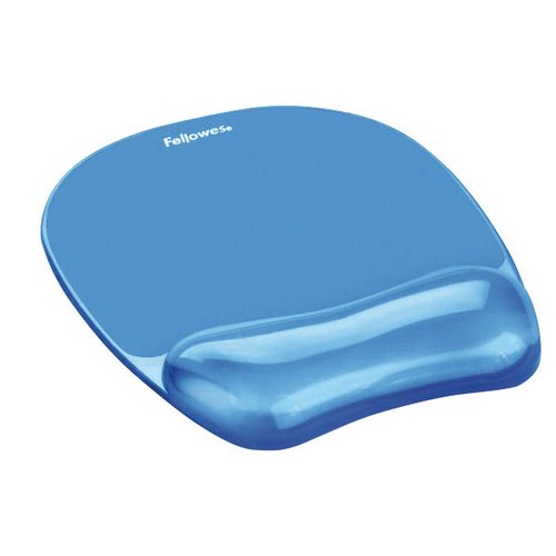 Fellowes Crystal Gel Mouse Pad Blue 91141