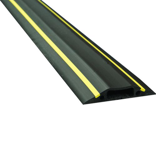 D-Line Floor Cable Cover 1.8m Type B Black & Yellow 30mmx10mm Inner Channel FC83H
