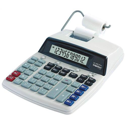 Value 12 Digit Desktop Printing Calculator