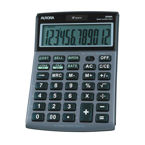 Aurora 12 Digit Desktop Calculator DT661